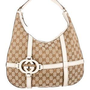 Gucci GG Canvas Royal Hobo - Tan & Cream 👜💕